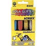 Cola colorida 15g c/gliter 4 cores 02924 Acrilex