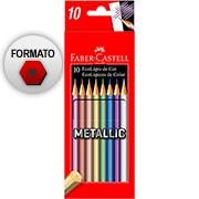 Lápis de Cor 10 cores metálicas 120410G Faber Castell