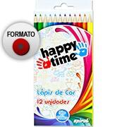 Lápis de Cor 12 cores redondo HT 11.1701 Happy-time