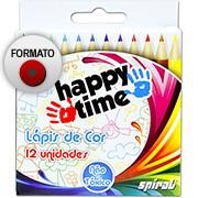 Lápis de Cor 12 cores meio lápis redondo HT 11.1702 Happy-time