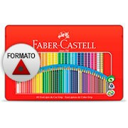 Lápis de Cor 48 cores triangular 121048LTN Faber Castell