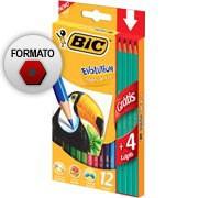Lápis de Cor 12 cores Evolution sextavado+4 lápis preto 902545