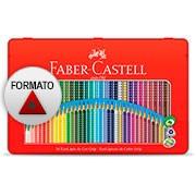 Lápis de Cor 36 cores triangular 121036LTN Faber Castell