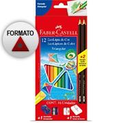 Lápis de Cor 12 cores triangular 1205122N Faber Castell