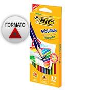 Lápis de Cor 12 cores triangular 930126 Bic
