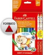 Lápis de Cor 12 cores Jumbo triangular 125012+2 Faber Castell