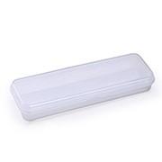 Estojo escolar plástico branco Waleu