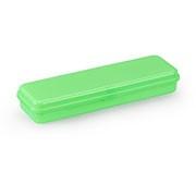 Estojo escolar plástico neon verde 10080015 Waleu