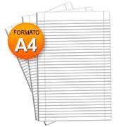Papel almaço A4 56G c/pauta e margem Spiral