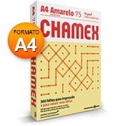 Papel sulfite 75g 210x297 A4 chamex colors amarelo Ipaper