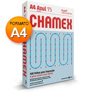 Papel sulfite 75g 210x297 A4 chamex colors azul Ipaper