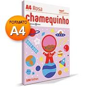 Papel sulfite 75g 210x297 A4 chamequinho rosa Ipaper