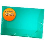 Pasta c/ elástico polipropileno 350x235mm verde A02 Plascony