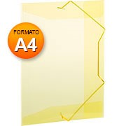 Pasta aba elástico A4 Super Line Amarela A02A4AM