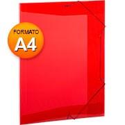 Pasta aba elástico A4 Super Line Vermelho A02A4VM