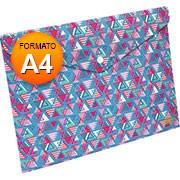 Pasta documento A4 fecho botão triângulo 653PP-LO DAC