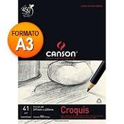 Bloco papel manteiga croquis A3 41g 50 fls 66667047 Canson