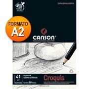 Bloco papel manteiga croquis A2 41g 50 fls 66667048 Canson