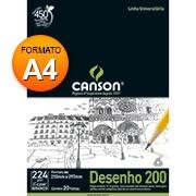 Bloco desenho A4 branco 200g 20 fls 66667045 Canson