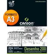 Bloco desenho A3 branco 200g 20 fls 66667044 Canson