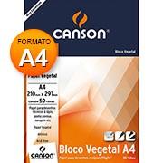 Bloco vegetal liso a4 95g 50 fls 66667018 Canson