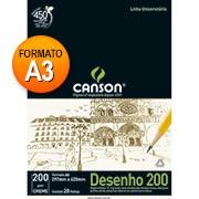 Bloco desenho A3 creme 200g 20 fls 66667041 Canson