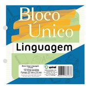 Bloco caderno único 207x210mm 100 fls (linguagem) 81876