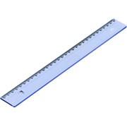Régua em poliestireno 30 cm azul clear 981.2 Acrimet