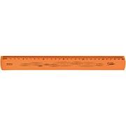 Régua 30cm laranja flexível 10270056 Waleu