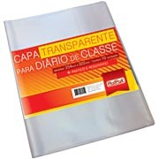 Capa plástica p/diário de classe 254x322mm 316 Plastpark