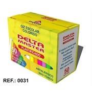 Giz escolar plastificado colorido c/50 palitos 3152 Delta