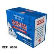 Giz escolar plastificado branco c/50 palitos 3051 Delta