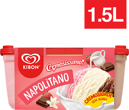 Sorvete Kibon Napolitano - Pote  -1,5 L - Cód.11446