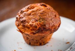 Muffin de Muçarela, Tomate e Rúcula
