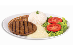 Hambúrguer de Picanha - 120g + Refri lata + Sobremesa