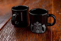 2 Xícaras Logo Starbucks Lisa Preta - 100ml