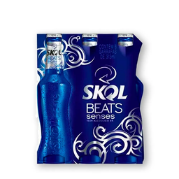 Pack de 6 Cerveja Skol Beats Senses Long Neck 313 mL