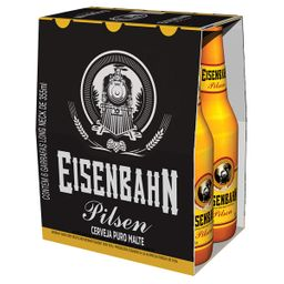 Pack Cerveja Eisenbahn Pilsen Long Neck 355 mL