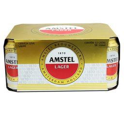Pack de 12 Cerveja Amstel Lata 350 mL