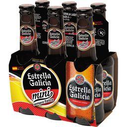 Pack Cerveja Estrella Galicia Mini Long Neck 200 mL