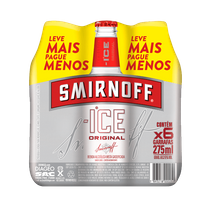 Pack de 6 Smirnoff Ice Long Neck 275 mL