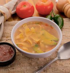 Sopa De Tortilha Arroz Mexicano