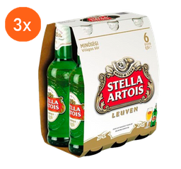 3x Pack Stella Long Neck 275 mL