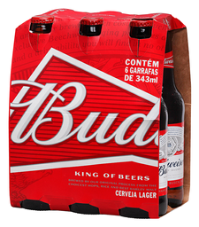 3x Pack Budweiser Long Neck 330 mL