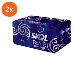 2x Pack Skol Beats Senses Lata 269 mL