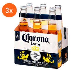 3x Pack Corona Long Neck 355 mL
