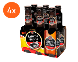 4x Pack Estrella Galicia Mini Long Neck 200 mL