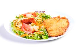 Com Salada - Filé de Frango Empanado