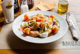Salada De Salmão Defumado E Verdes