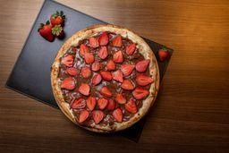 Pizza de Nutella com Morango